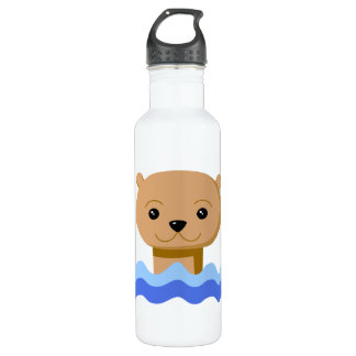Swimming Otter. Water Bottle