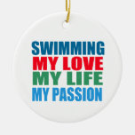 Swimming Passion Christmas Ornament