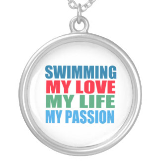 Swimming Passion Silver Plated Necklace