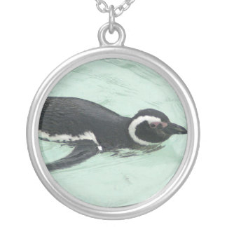 Swimming Penguin Necklace