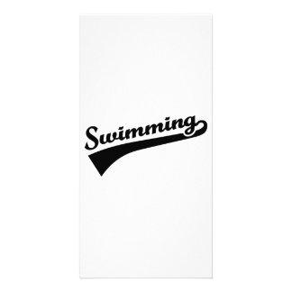 Swimming Photo Card