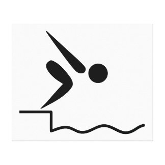 Swimming Pictogram Canvas Print