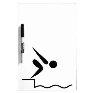 Swimming Pictogram Dry-Erase Board