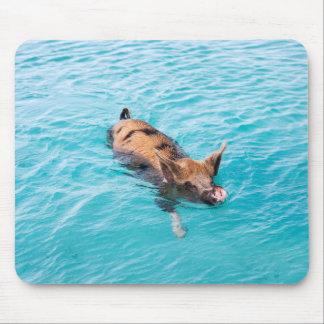 Swimming pig of Exuma Mouse Pad