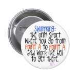 Swimming Pinback Buttons