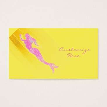 Professional Business swimming pink mermaid business card