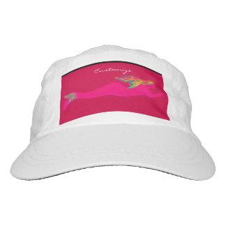 swimming pink mermaid headsweats hat