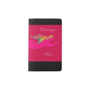 Beach Themed swimming pink mermaid pocket moleskine notebook