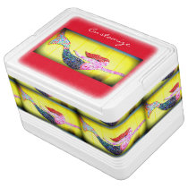 swimming pink mosaic mermaids cooler