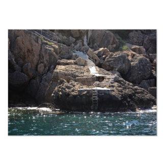 Swimming Platform into the Sea Invitation