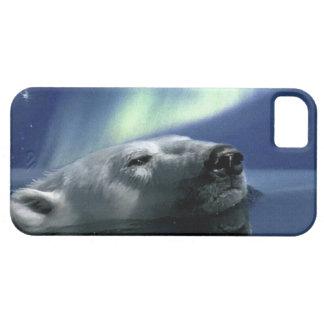 Swimming Polar Bear and Aurora Wildlife Design iPhone SE/5/5s Case