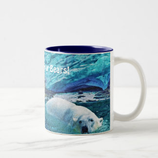 Swimming Polar Bear & Arctic Ice Art Mug