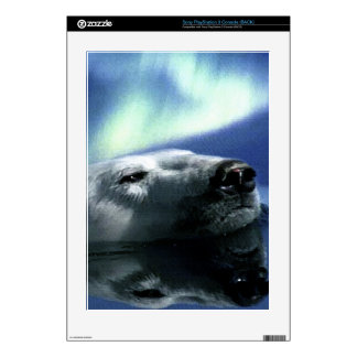 Swimming Polar Bear & Aurora Playstation 3 Skin PS3 Decals