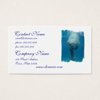 Swimming Polar Bear  Business Card
