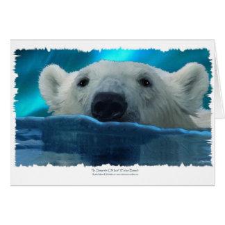 SWIMMING POLAR BEAR GREETING CARDS