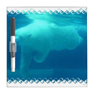 Swimming Polar Bear Dry Erase Board