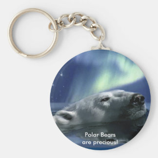 SWIMMING POLAR BEAR KEYCHAIN