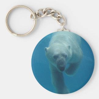 Swimming Polar Bear  Keychain