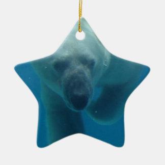 Swimming Polar Bear Ornament