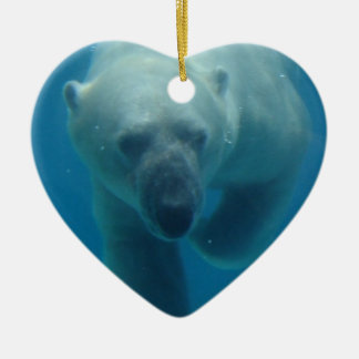 Swimming Polar Bear  Ornament