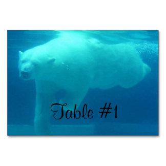 Swimming Polar Bear Table Card
