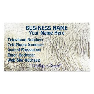 SWIMMING POLAR BEAR Themed Business Cards