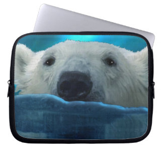 Swimming Polar Bear Wildlife Art Computer Sleeve