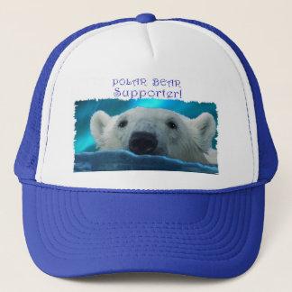 Swimming Polar Bear Wildlife Art Hat