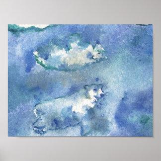 Swimming Polar Bears Art Print