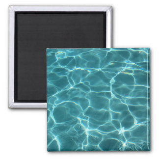 Swimming Pool 2 Inch Square Magnet