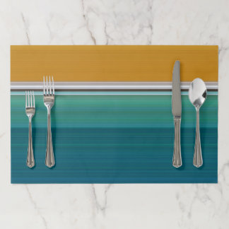 Swimming Pool Abstract Paper Placemat