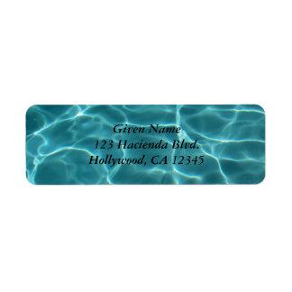 Swimming Pool Avery Label Return Address Label