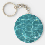 Swimming Pool Basic Round Button Keychain