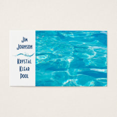 Swimming Pool Blue Business Card at Zazzle