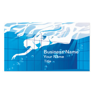Swimming Pool Business Business Card