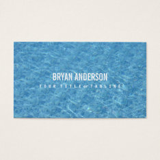 Swimming Pool Business Card at Zazzle