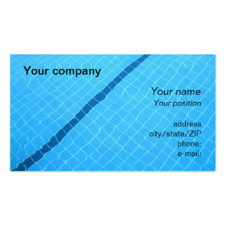 """Swimming pool"" business card"