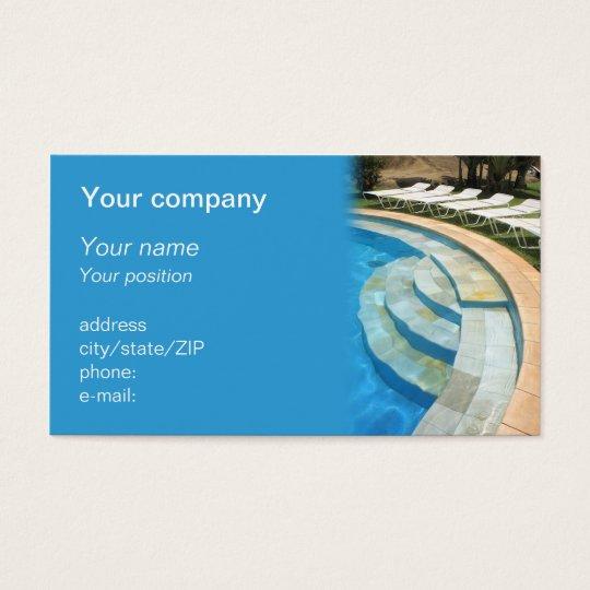 Swimming pool business card zazzle swimming pool business card colourmoves