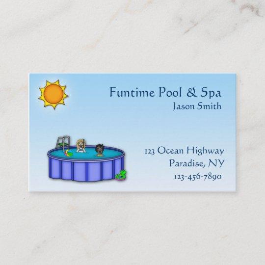 Swimming Pool Business Card Zazzle