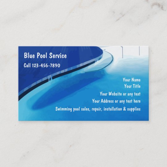 Swimming Pool Business Cards Zazzle