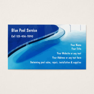 Swimming pool business cards templates zazzle swimming pool business cards colourmoves