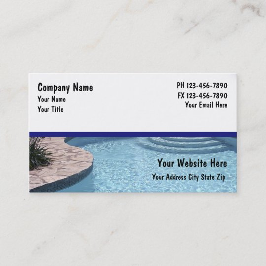 Swimming pool business cards zazzle swimming pool business cards colourmoves