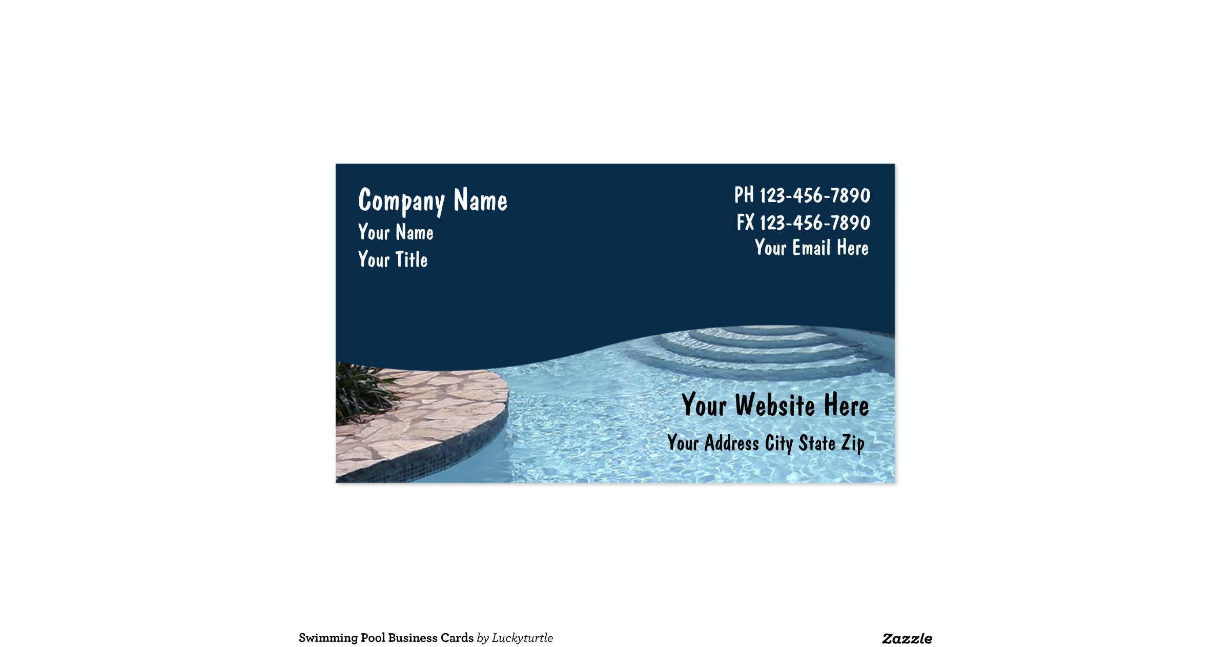 Swimming pool business cards for Pool business cards