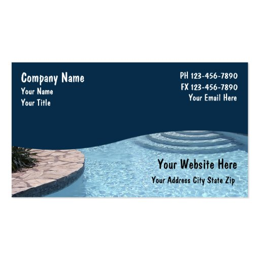 Swimming pool business card templates bizcardstudio swimming pool business cards colourmoves