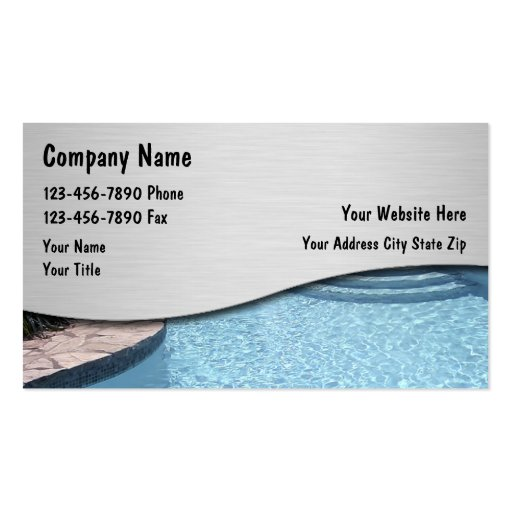 Swimming pool maintenance business card templates bizcardstudio swimming pool business cards colourmoves