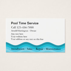 Swimming Pool Business Cards at Zazzle