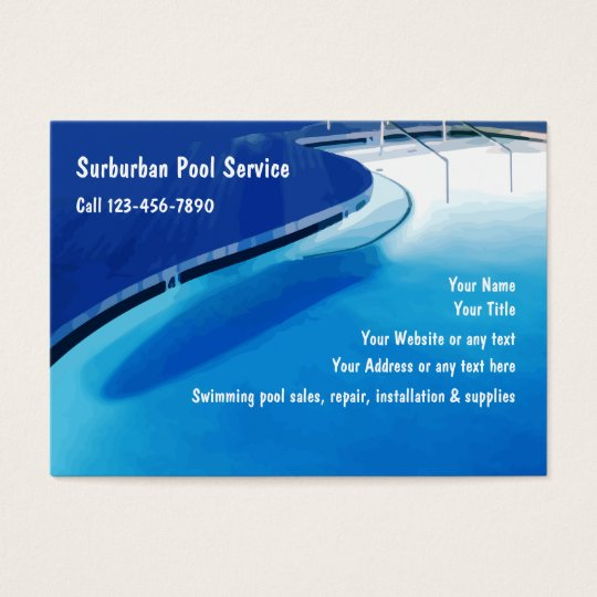 Swimming pool business cards zazzlecom for Pool service business cards