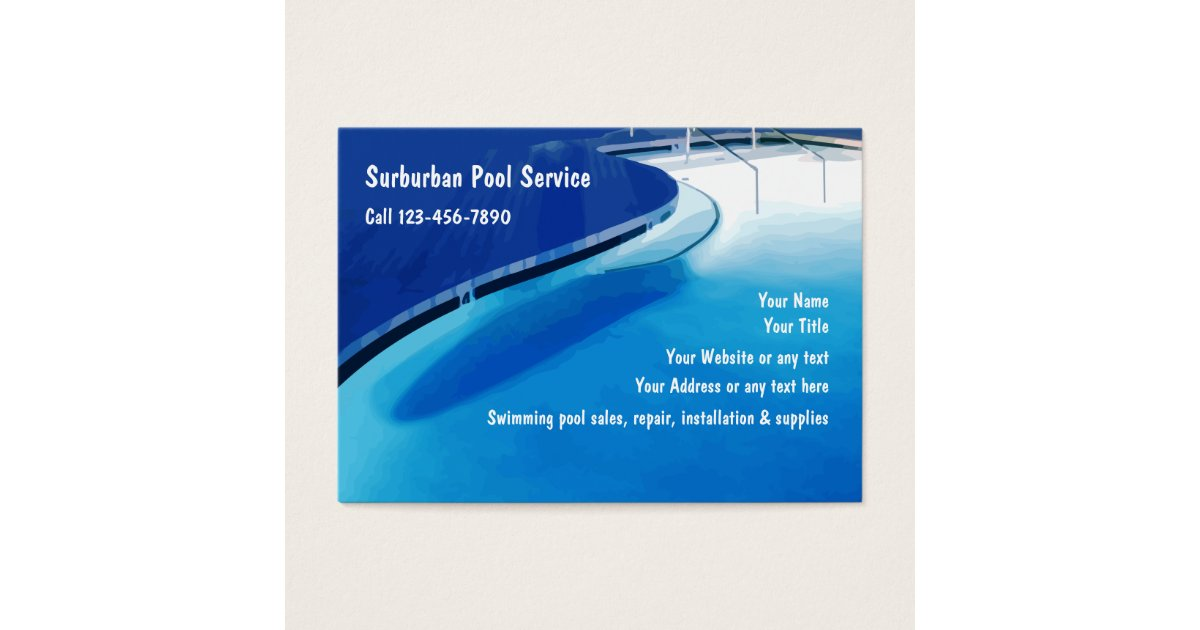 Swimming Pool Business Cards & Templates | Zazzle