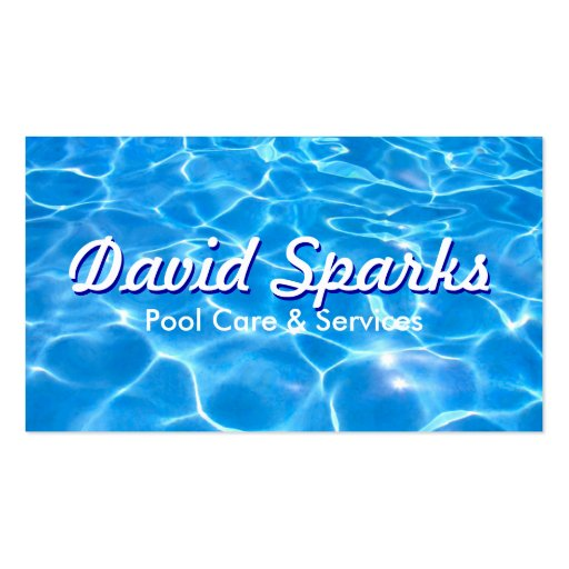 Swimming Pool Service Business Cards : Swimming pool care and services business card zazzle
