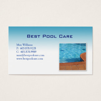 Swimming Pool Care Maintenance Business Card